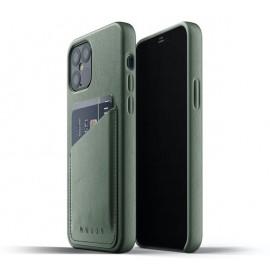 Mujjo - Coque portefeuille iPhone 12 / iPhone 12 Pro - Vert