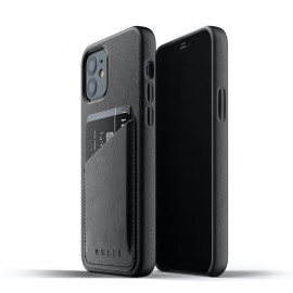 Mujjo - Coque portefeuille iPhone 12 / iPhone 12 Pro - Noir