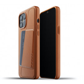 Mujjo - Coque cuir iPhone 12 Pro Max portefeuille - Marron