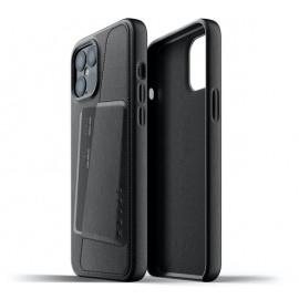 Mujjo - Coque cuir iPhone 12 Pro Max portefeuille - Noir