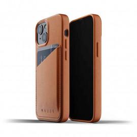 Mujjo - Coque cuir iPhone 13 Mini portefeuille - Marron