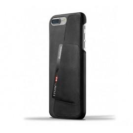 Mujjo - Coque portefeuille en cuir iPhone 7 Plus - Noir