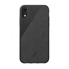 Native Union Clic Canvas - Coque iPhone XR - Noire