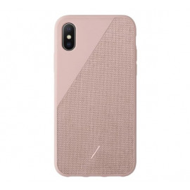 Native Union Clic Canvas - Coque iPhone XS - Rose