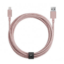 Native Union Kevlar Belt Lightning - Câble de charge 3m - Rose