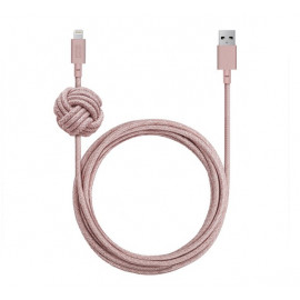 Native Union Kevlar Night Lightning - Câble de charge 3m - Rose