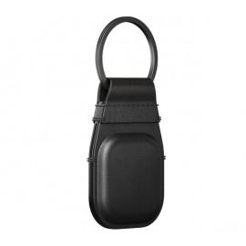 Nomad - Coque porte-clés pour AirTag en cuir - Noire