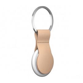 Nomad -  Coque porte-clés pour AirTag en cuir - Beige