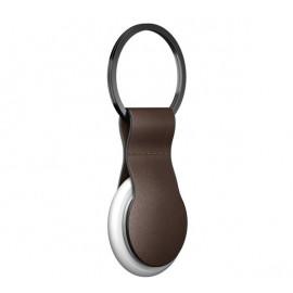 Nomad -  Coque porte-clés pour AirTag en cuir - Marron