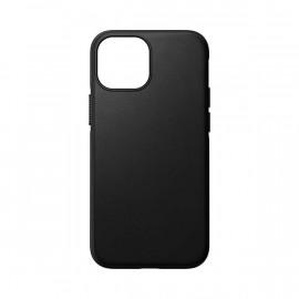 Nomad Modern Coque en cuir Magsafe iPhone 13 Mini Noir