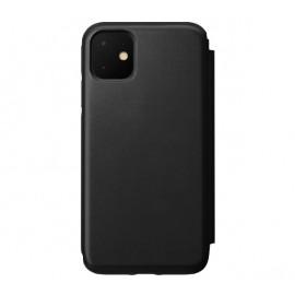 Nomad Rugged Folio Étui portefeuille en cuir iPhone 11 Noir