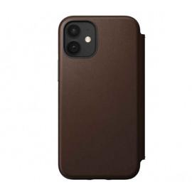 Nomad Rugged Folio Leather Case iPhone 12 Mini bruin