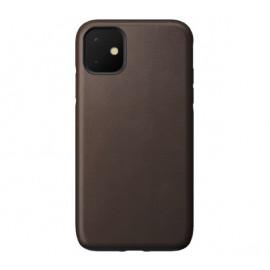 Nomad Rugged Coque iPhone 11 En cuir Marron