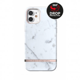 Richmond & Finch - Freedom Series Coque iPhone 12 / iPhone 12 Pro - Marbre Blanc