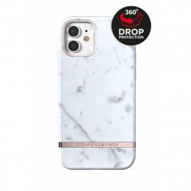 Richmond & Finch - Freedom Series Coque iPhone 12 Mini - Marbre Blanc