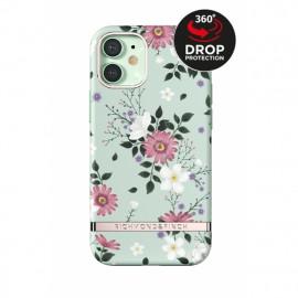 Richmond & Finch - Freedom Series Coque iPhone 12 / iPhone 12 Pro  - Fleurs Verts
