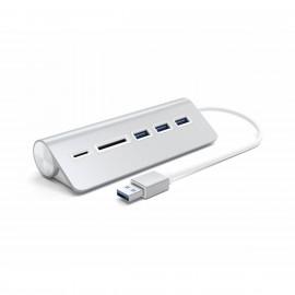 Satechi - Adaptateur USB-A vers USB et lecteur carte SD - Argent