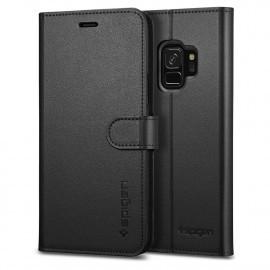 Spigen Samsung Galaxy S9 Coque Portefeuille Noire