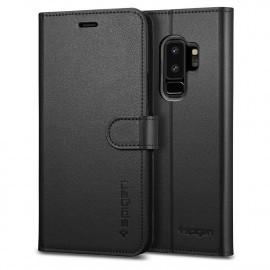Spigen Samsung Galaxy S9 Plus Coque Portefeuille Noire