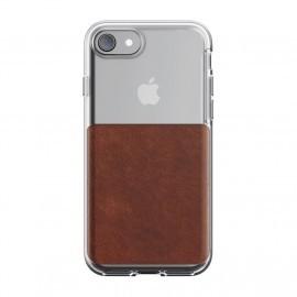 Nomad - Coque iPhone 7 / 8 / SE 2020 - Transparente / Marron