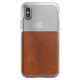 Nomad - Coque iPhone X / XS - Transparente / Marron