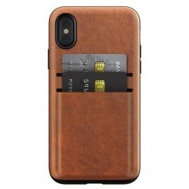 Nomad - Coque Phone X / XS porte carte en cuir - Marron