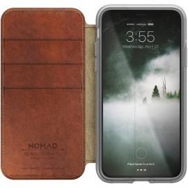 Nomad - Coque / Étui portefeuille iPhone X / XS - Transparente