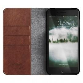 Nomad - Coque portefeuille iPhone 7 / 8 Plus en cuir Marron