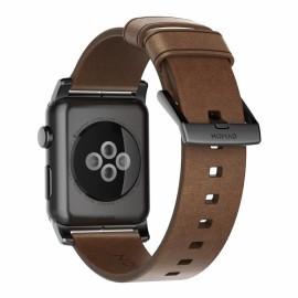 Nomad Modern Bracelet en cuir Apple Watch 42 / 44 mm Noir
