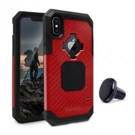 Rokform Rugged - Coque Robuste iPhone X / XS Antichoc - Rouge