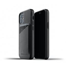 Mujjo - Coque cuir iPhone 12 Mini portefeuille - Noir