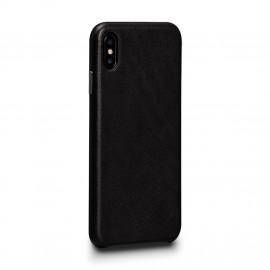 Sena Deen En cuir Snap On - Coque iPhone X / XS - Noir