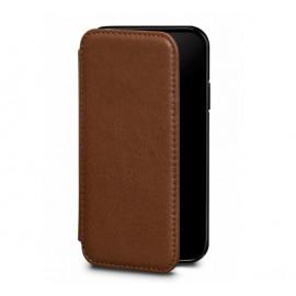 Sena Deen LeatherBook Étui Portefeuille iPhone XS Max marron