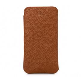 Sena Ultraslim - Pochette en cuir iPhone 11 - Marron