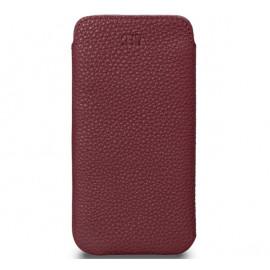 Sena Ultraslim - Pochette iPhone 12 Mini En cuir - Bordeaux