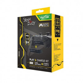 Steelplay Xbox One Play & Charge - Kit avec manette et batterie