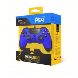 Steelplay MetalTech - Manette avec fil - PS4 Bleue