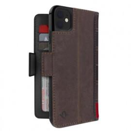 Twelve South Bookbook - iPhone 11 - Coque en cuir Marron