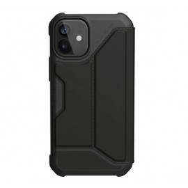 UAG Metropolis Leather - Coque en cuir iPhone 12 / iPhone 12 Pro - Noire