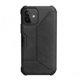 UAG Metropolis Leather - Coque en cuir iPhone 12 / iPhone 12 Pro - Noire