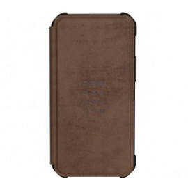 UAG Metropolis Leather - Coque en cuir iPhone 12 Mini - Marron