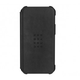 UAG Metropolis Leather - Coque en cuir iPhone 12 Mini - Noire