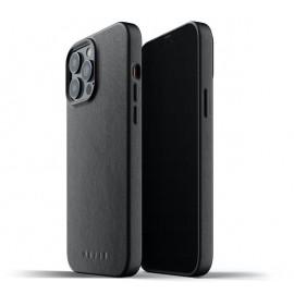 Mujjo - Coque cuir iPhone 13 Pro Max - Noir