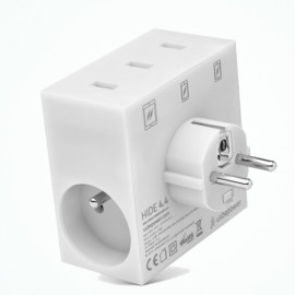 usbepower HIDE 5-en-1 - chargeur mural multiports - White