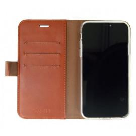 Valenta Booklet Classic Luxe - Étui iPhone 11 portefeuille - Marron