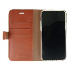 Valenta Booklet Classic Luxe - Étui iPhone 11 Pro portefeuille - Marron