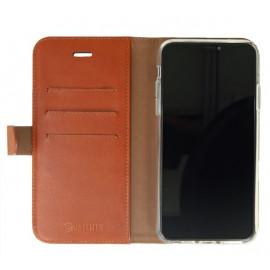 Valenta Booklet Classic Luxe - Étui iPhone 11 Pro Max portefeuille - Marron