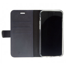 Valenta Booklet Classic Luxe - Étui iPhone 11 Pro portefeuille - Bleu