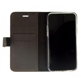 Valenta Booklet Classic Luxe - Étui iPhone 11 Pro portefeuille - Marron foncé