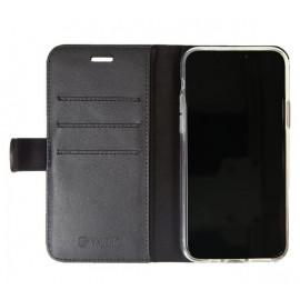 Valenta Booklet Classic Luxe - Étui iPhone 11 Pro portefeuille - Noir